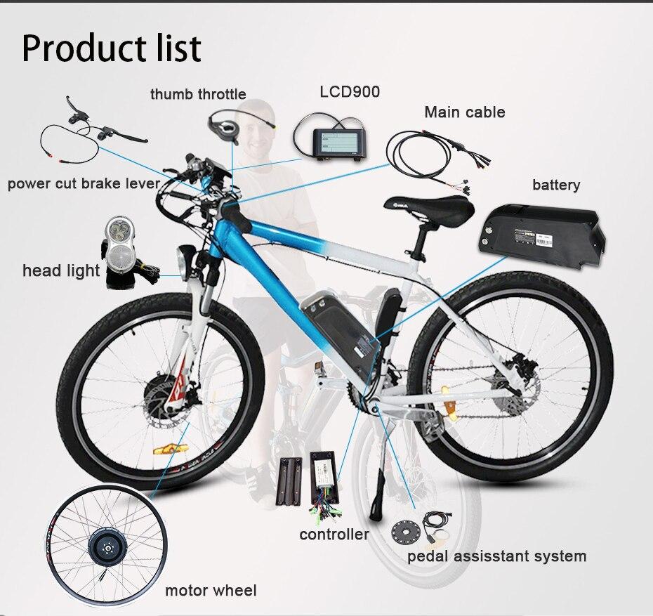 "HTB1YdSlXjzuK1RjSspeq6ziHVXa2 - 48V Lithium Battery Electric Bike Kit 350w 500w Hub Motor Wheel for 26"" 700C  MTB Bike Road Bicycles E Bike Conversion Kit"