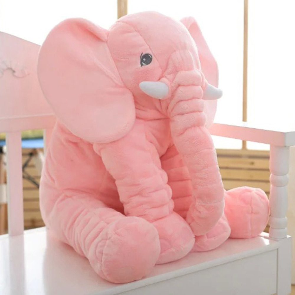 OCDAY 60cm Elephant Pillow Plush Toys Stuffed Doll Large Sleeping Back Cushion Appease Elephant Dolls toy Baby Birthday Gifts 55cm cute cartoon lilo and stitch warm hand pillow plush toy doll stuffed pillow cushion toys dolls warm hands stitch kids toy