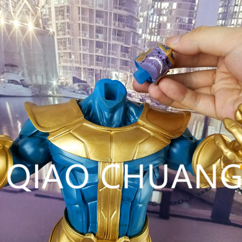 Avengers:Infinity War Supervillain Thanos The universe Kings Replaceable Head PVC Action Figure Collection Model Toy G1503