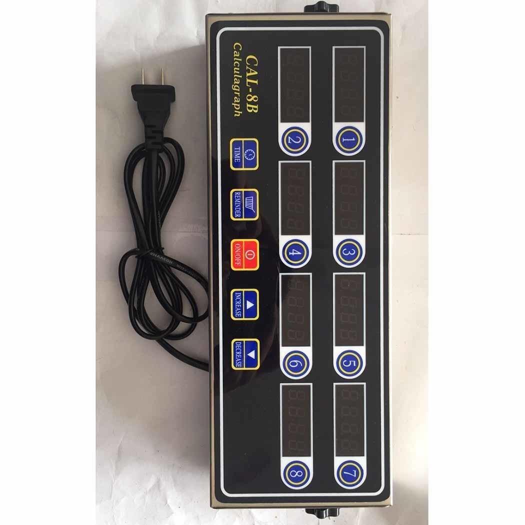 Chronomètre Portable affichage LCD 8 canaux minuterie numérique maison 2 W CAL-8B cuisine AC 220 V 50/60Hz cuisine, etc.