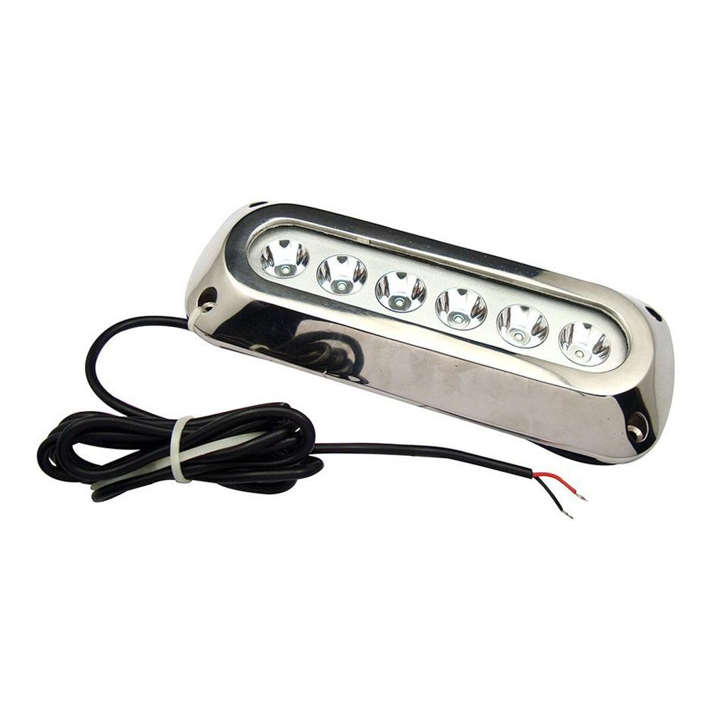 Useful 18w White Stainless Steel IP68 Waterproof LED Marine Underwater Light Boat Yacht light