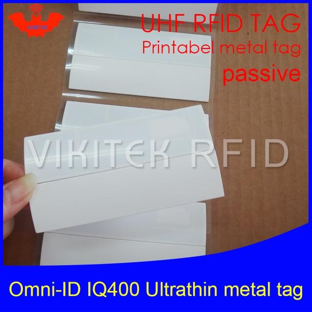 UHF RFID anti-metal tag omni-ID IQ400 IQ 400 915mhz 868mhz Impinj Monza4QT EPCC1G2 6C printable passive RFID Synthetic Label