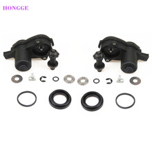 HONGGE 2 Set Rear Wheel Cylinder Brake Caliper Servo Motor + Repair Kit For A4 S4 A5 Q5 32335478 32326315 8K0 998 281A 8K0998281