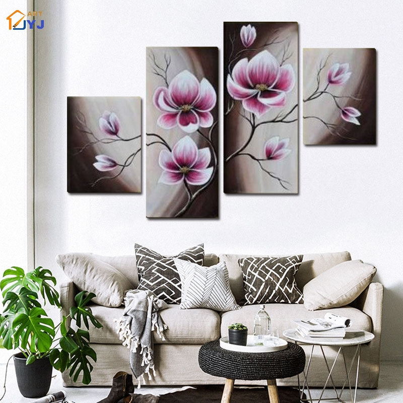 Handpainted Abstract Chinese Bamboo Character Oil Painting