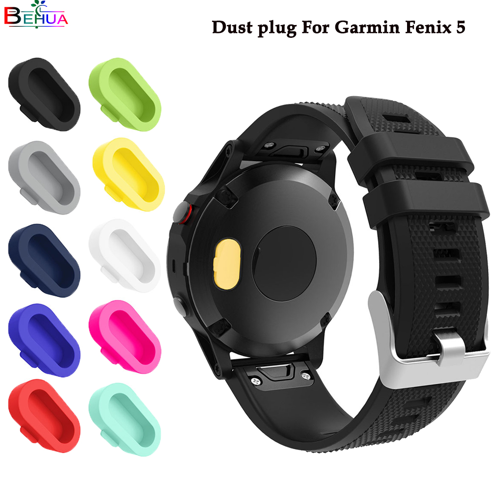 dust plug For Garmin Fenix 5 smart watch Quality protection increases texture multiple colour dust plug 5 pcs/lotdust plug For Garmin Fenix 5 smart watch Quality protection increases texture multiple colour dust plug 5 pcs/lot