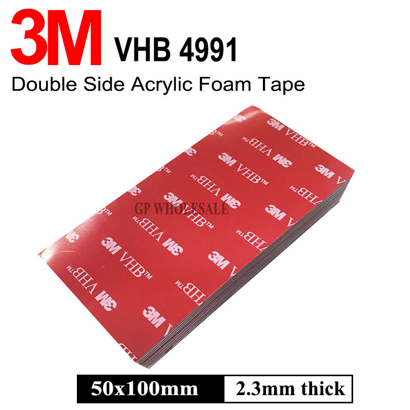 3M VHB 4991 Double Sided Adhesive Acrylic Foam Tape Mounting Tape Gray Thickness: 2.3mm Free Shipping недорго, оригинальная цена