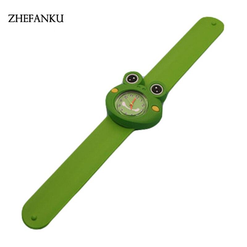 ZHEFANKU Waterproof 3D Cartoon Animal Design Analog Wrist Watch Children Clock / Kid Quartz Wrist Watches
