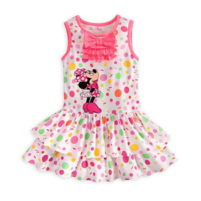 b0e7c4e61c0c6 Été mignon Minnie filles robes tenue décontractée Fantasia Infantil Vestidos  Infantis mignon enfant en bas âge