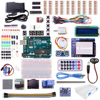 UNO R3 Starter Kit For ARDUINO With Step Motor Servo 1602 LCD Jumper Wire HC SR04