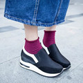 Женская Мода Мокасины Повседневная Обувь 2016 Холст Квартиры Качели Обувь Медсестра Обувь Скольжению Клинья Chaussure Femme Женская Обувь