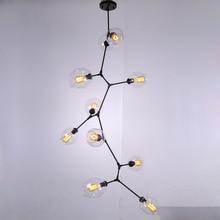 Moder Design Glass Chandeliers For Living Room Bedroom Foyer Lamp Decor Home Lighting Fixtures Lustre E27 Bulb AC110-220V