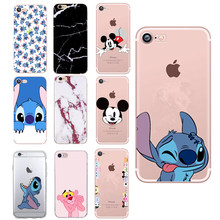 For iPhone X Case Printed Cartoon Stitch Lovely Silicone TPU Back Cover for IPhone 7 5 S 5 6 6S 7plus 8 Plus XS Case Soft Coque(China)