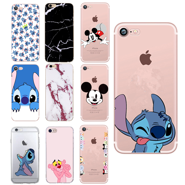 For iPhone X Case Printed Cartoon Stitch Lovely Silicone TPU Back Cover for IPhone 7 5 S 5 6 6S 7plus 8 Plus XS Case Soft Coque