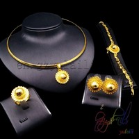 2016 fashion India bridal flower jewelry sets new alloy jewelry set fashion cheap jewelry sets