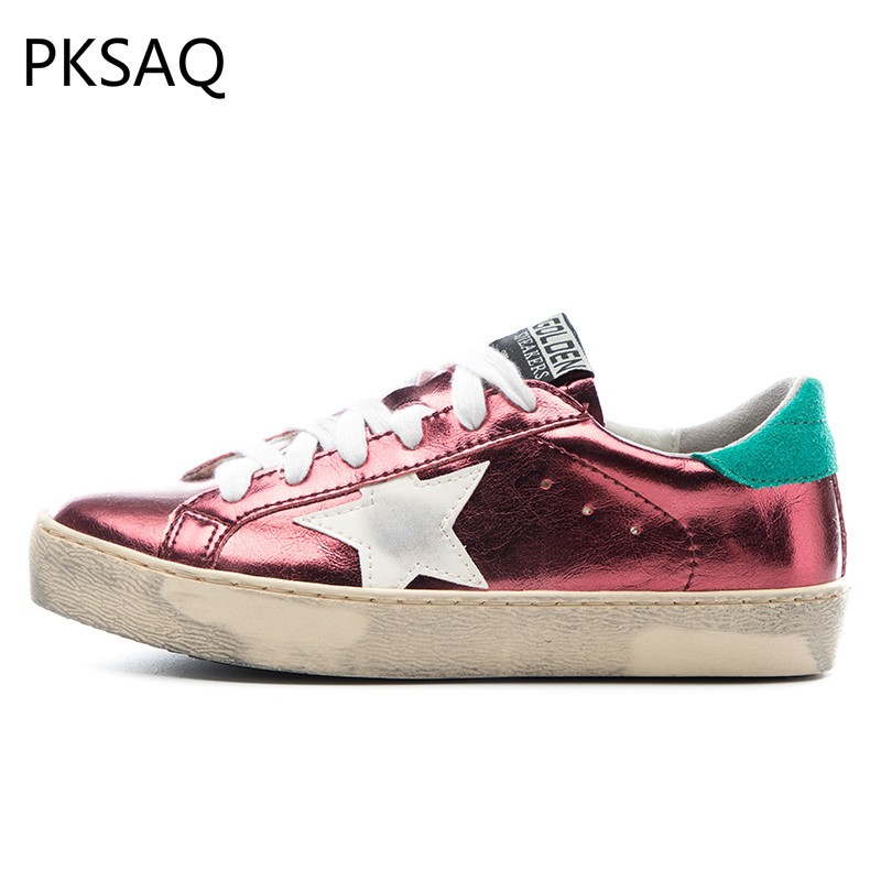 Spring Summer Do Old Stars Dirty Shoes Women Rome Style Shoes Casual Flat Star Casual Lace Up Round Toe Shoes B autumn winter new women purple little dirty do old shoes horse hair fur white shoes ladies star lace up flat casual shoes