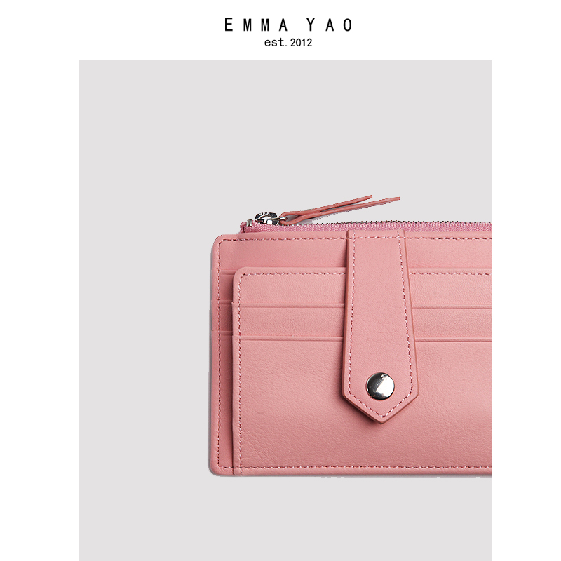 EMMA YAO  women's leather coin purses holders fashion wallet female korean purse