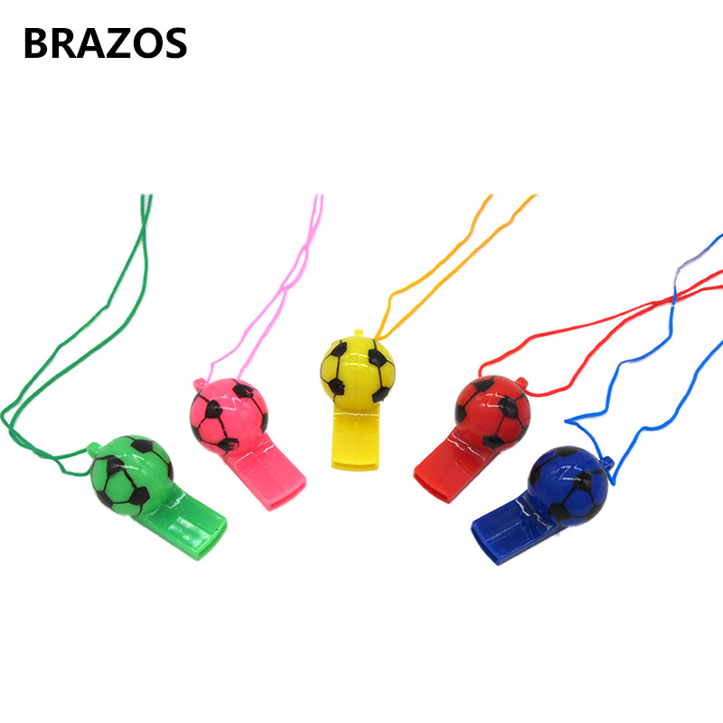 5PCS Referee Soccer Whistle Lanyard Plastic Basketball Referee Whistle For Football Ball Volleyball Match Coach Random Color