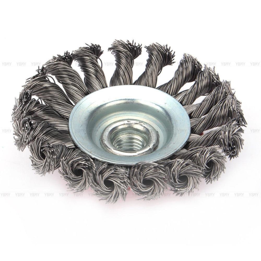 4Pcs 4\'\' Twist Knot Semi Flat Wire Wheel Cup Brush Set Kit 115MM ...