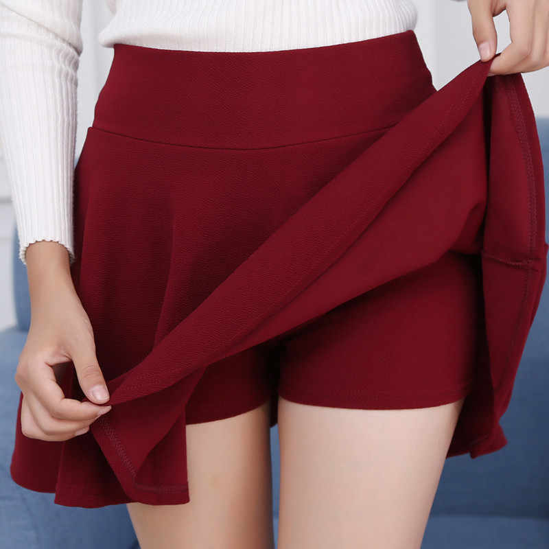 #1601 Sexy Mini Skirts Plus Size 4XL 5XL Pleated Skirts Women Elastic High Waist Red White Black Korean Style Short Skirt Ladies