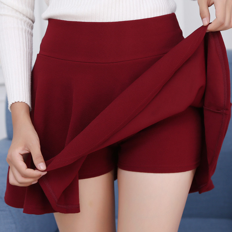 #1601 <font><b>Sexy</b></font> Mini <font><b>Skirts</b></font> Plus Size 4XL <font><b>5XL</b></font> Pleated <font><b>Skirts</b></font> Women Elastic High Waist Red White Black Korean Style Short <font><b>Skirt</b></font> Ladies image