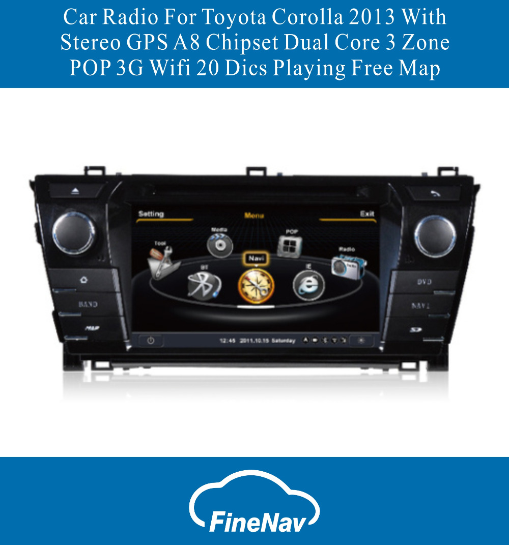 A8 Chipset 3g Wifi Car Radio For Toyota Corolla 2013 2014