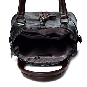 Image 5 - Fashion Tassel Womens Backpack Multifunction Backpacks for Women Large Capacity School Bag for Girls Leather backpack female