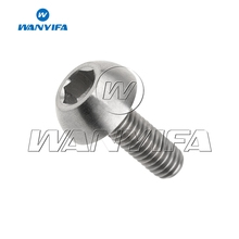 Wanyifa M6x17mm Semicircular Head Titanium Bolt Screw for Bicycle Brake Motorcycle Part