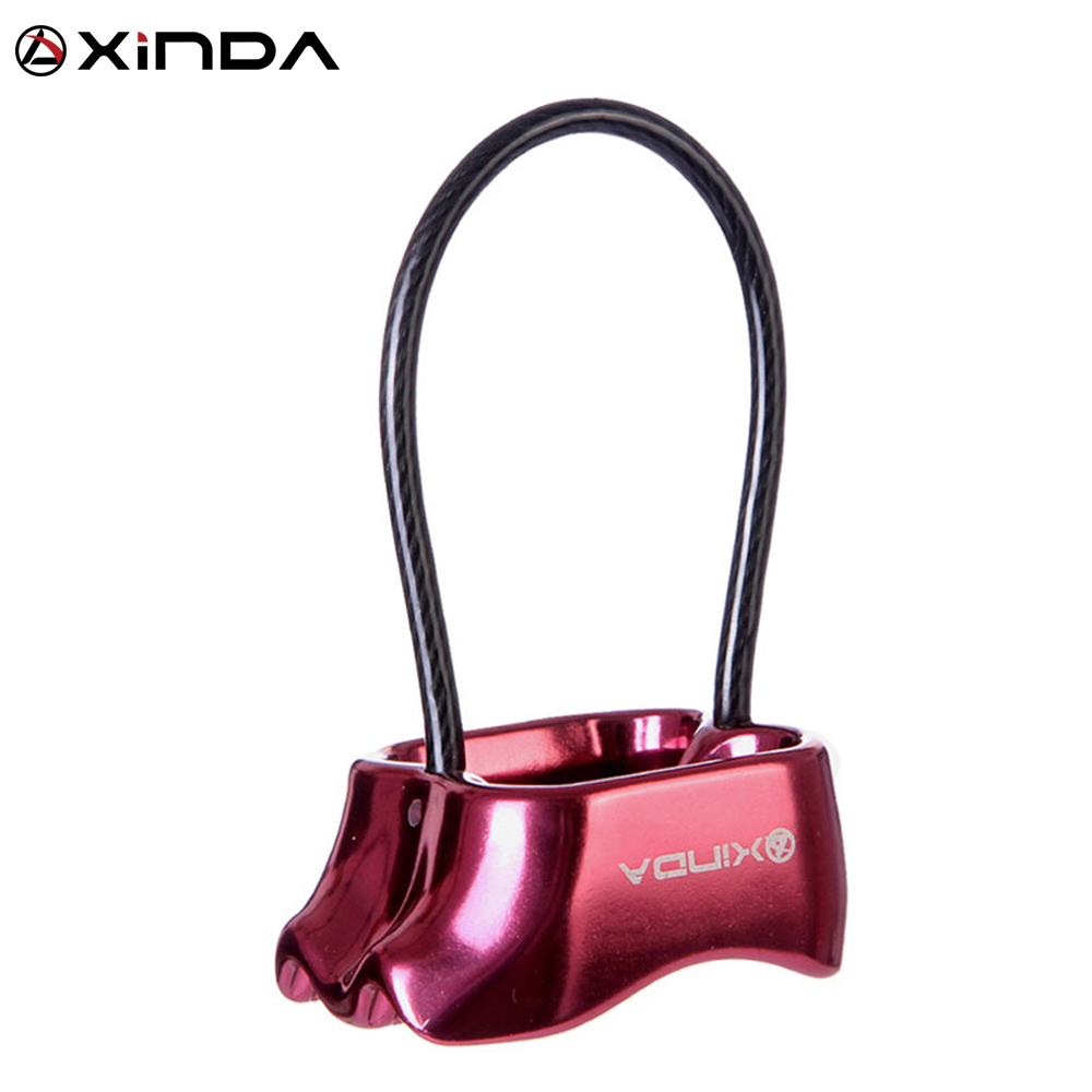 XINDA Professional Rappel ATC Belay құрылғысы Алюминий 25KN Descender Outdoor Camping & Hiking Rock Climbing Equipment