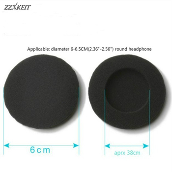 20Pcs 60mm Soft Foam Earbud Headphone Ear pads Replacement Sponge Covers For Headphone MP3 MP4 Size Of 6-6.5CM Headset