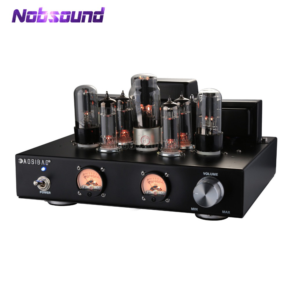 2018 Latest Nobsound 6P1 Vacuum&Valve Tube Stereo Amplifier Single Ended Class A Power Amp 6.8 Watt*2 Handcrafted