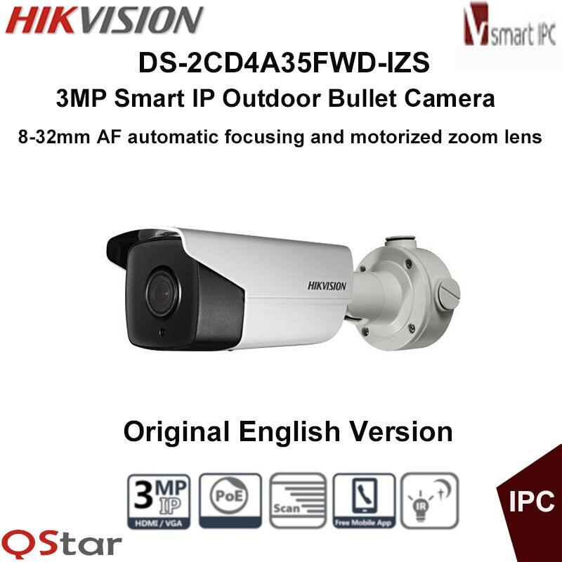 hikvision international version ds 2cd1631fwd iz 3mp ip bullet camera 2 8mm 12mm motorized vf lens ezviz p2p poe ir 30m outdoor Hikvision Original English Version DS-2CD4A35FWD-IZ(H)S 3MP WDR IR IP Camera Support Motorized VF lens,120dB POE CCTV Camera