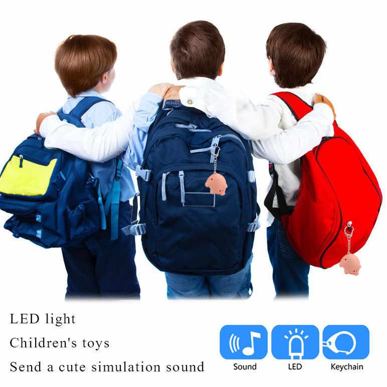 Mini Porco Bonito LED Chaveiro Lanterna Anéis de Som Criativo Crianças Brinquedos Porco Dos Desenhos Animados de Som Luz Keychain 43*34 * 28mm
