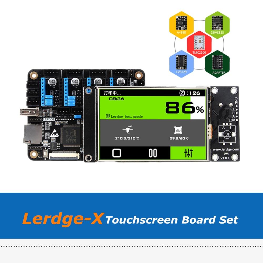 placa de peca impressora 3d braco 32bit lerdge x controlador placa 3 5 tft tela toque