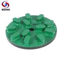 RIJILEI 5inch Diamond Resin Grinding Plate 125mm disc Marble Polishing Pad for Concrete floor RM02