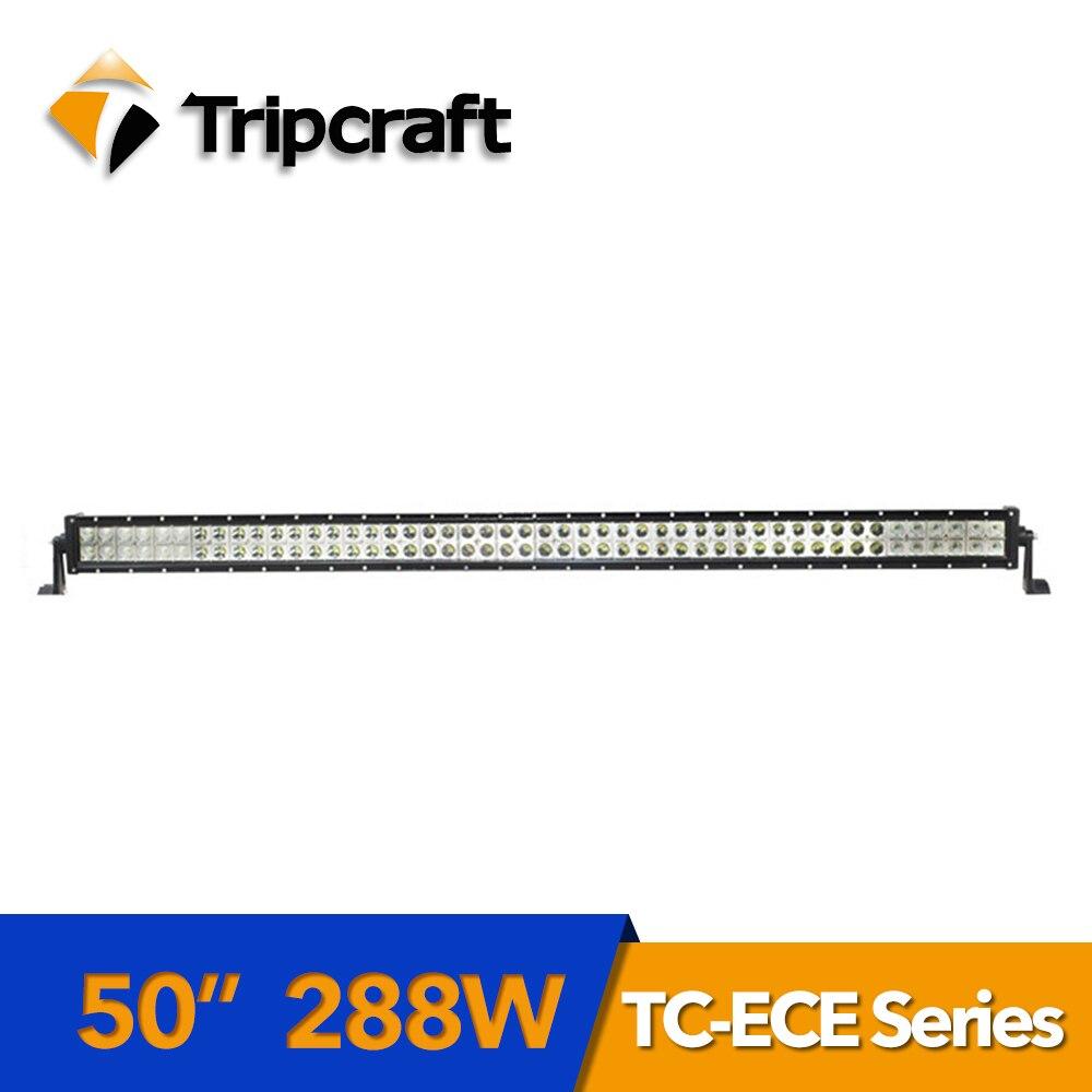 TRIPCRAFT 288 Вт Epistar светодиодный свет работы Бар Наводнение луч для внедорожных автомобилей rampe 12 В 24 В грузовик внедорожник ATV 4x4 4WD Авто Вождение...