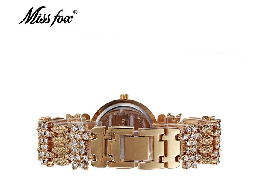 Miss Fox Brand Butterfly Women Watch Luxury Waterproof Full Diamond Timepiece Women Steel Mesh Quartz Watch Relojes Mujer