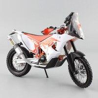 1:12 escala mini RED BULL KTM SXF Fábrica Dakar 450 rali SUPERMOTO Enduro de Moto Diecast carros Modelo Motocross da bicicleta da sujeira brinquedos