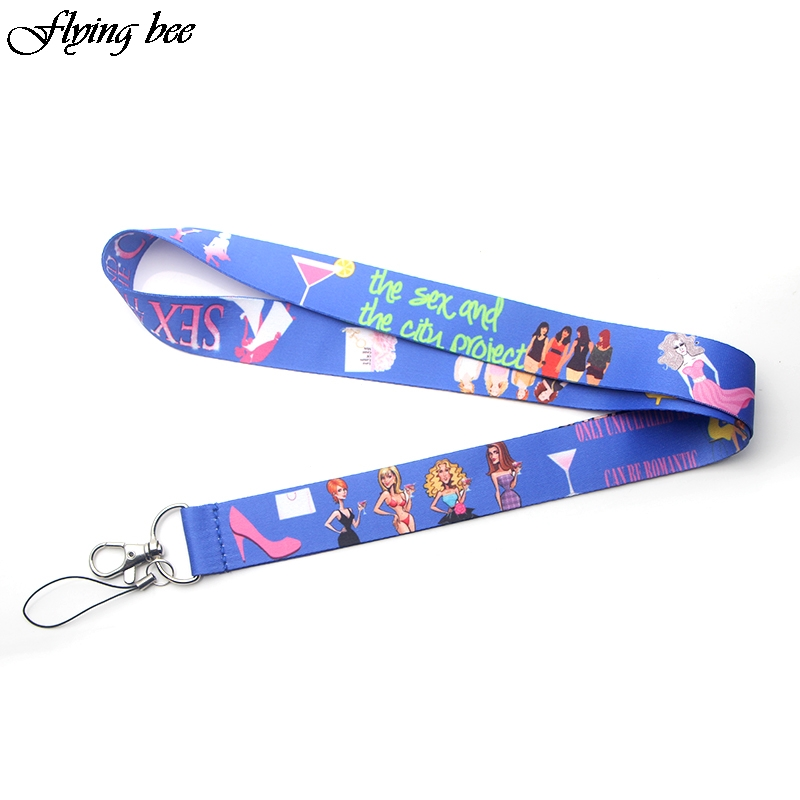 Flyingbee Sex And The City Lanyard Badge ID Lanyards/ Mobile Phone Rope/ Key Lanyard Neck Straps Accessories X0073
