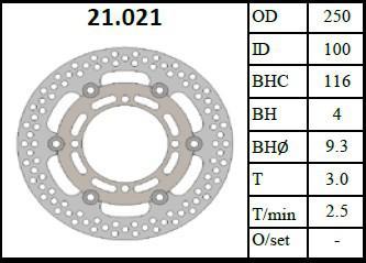 LOPOR мотоцикл переднего тормозного диска ротора для Kawasaki KX125 KX250 KLX250