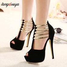 Sexy High Heels Women Shoes Platform Peep Toe Wedding