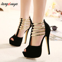 Sexy High Heels Women Shoes Platform Peep Toe Wedding