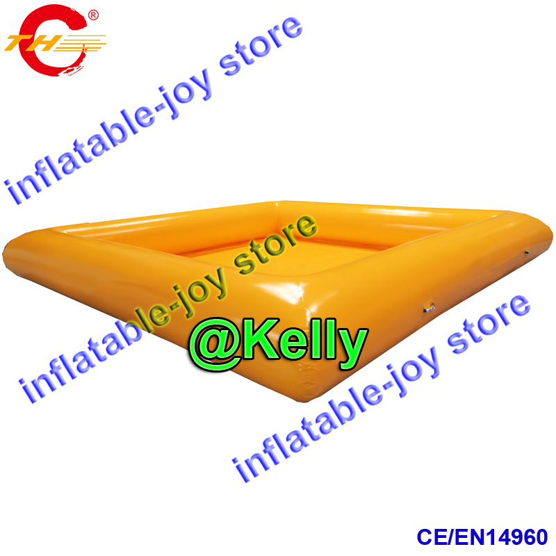 Free shipping yellow color inflatable swimming pool for sale, summer ...