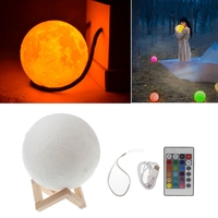 High Quality 18cm 3D USB LED Magical Moon Night Light Table Desk Lamp Birthday Gift+Remote