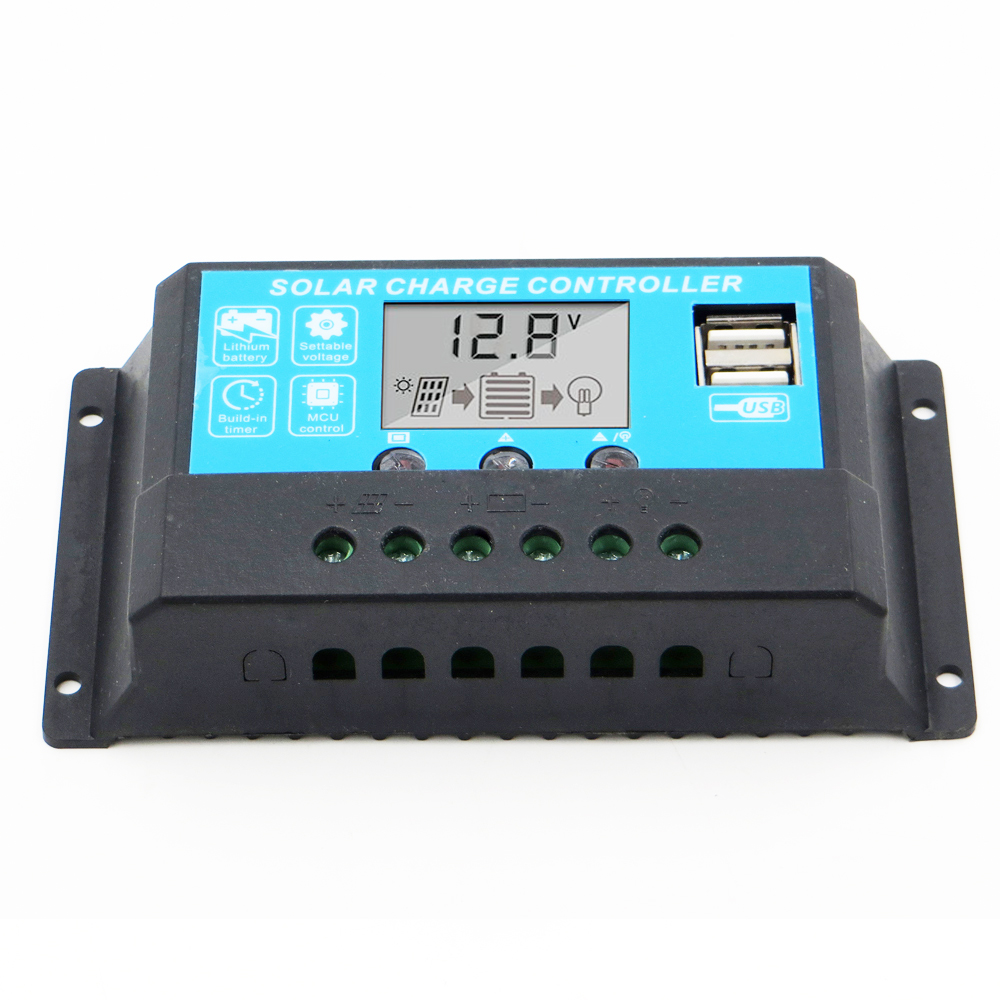 30A <font><b>20A</b></font> 10A 12 V/24 V LCD display solar ladegerät AGM GEL Eisen li-ion lithium-batterie laderegler USB 5V image