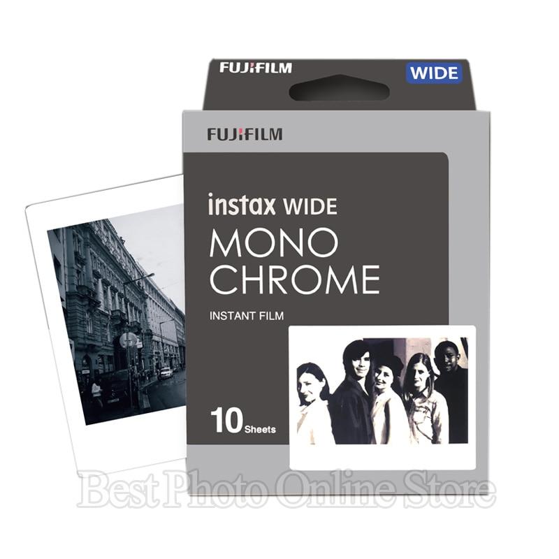 10/20 Sheets Fujifilm Fuji Instax Wide Film Black and white Monochrome/Rainbow/White Instant Camera 300/200/210/100 Photo paper white black 100