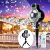 ZjRight NEW Led Snow Scene Light Waterproof Projector Snowflakes Outdoor Lighting Decorations Xmas Home Party Garden
