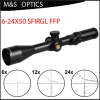 MARCOOL EVV 6-24X50 Side Focus FFP Optische Sight Red Green Dot Verlichte Jacht Tactical Riflescope Scope Voor Geweren