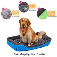 كلب القط بيت الكلب السرير شتاء دافئ لينة أريكة ماء تنفس أكسفورد 4 ألوان حجم s-3xl لجميع النوع كلب المنتج