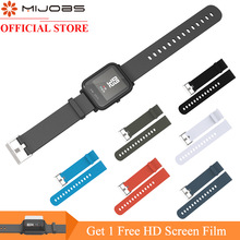Xiaomi Huami Amazfit Bip PACE Lite 용 Mijobs 20mm 스포츠 실리콘 손목 스트랩 Youth Smart Watch Replacement Band Smartwatch