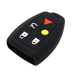 Image 4 - Coque de protection pour clé télécommande, sans clé, en peau, pour Volvo C30, C70, S40, V50 housse de clefs en Silicone 2004, 2007 Fob